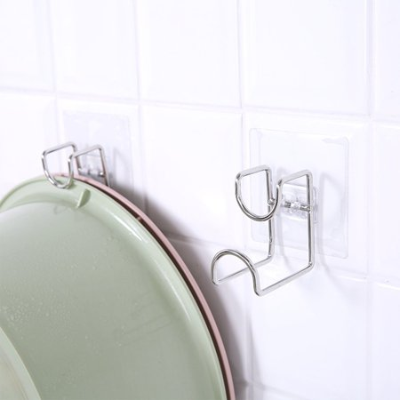Brand New Free Powerful Suction Basin Storage Hook Wall Hanger Toilet Basin Rack - image 2 de 5