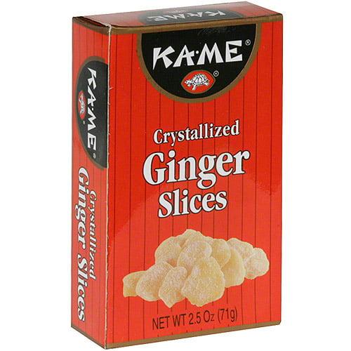 Ka-Me Sliced Crystallized Ginger, 2.5 oz (Pack of 12)