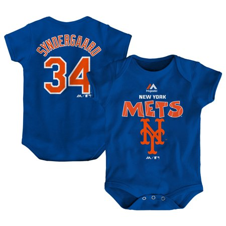 Noah Syndergaard New York Mets Majestic Newborn & Infant Stitched Player Name & Number Bodysuit - Royal