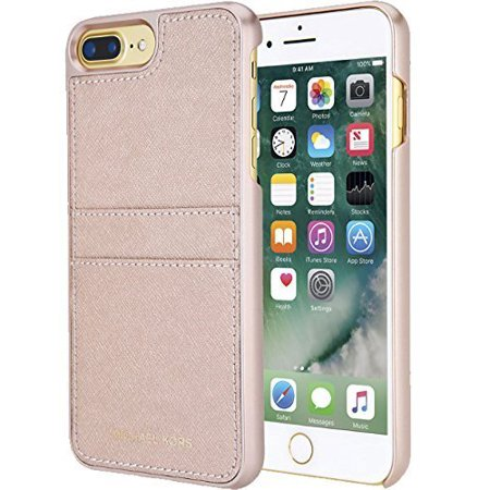 e73324d6f Michael Kors Saffiano Leather Pocket Snap On Case for iPhone 7 Plus & 8  Plus - Walmart.com
