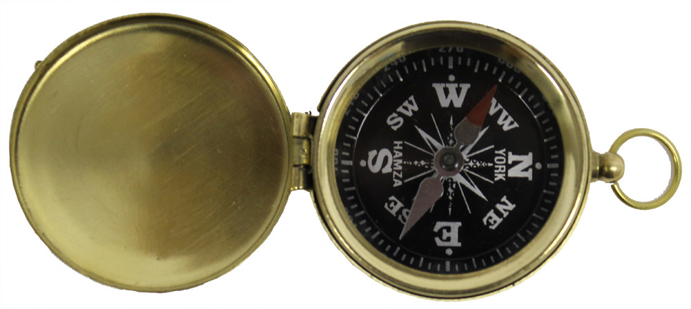 BRASS HIKING COMPASS Pocket Compasses CAMPING SCOUT by RedSkyTrader