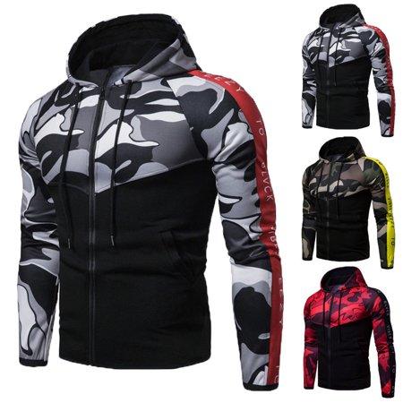 - Mens Zip Up Hoodie Hoody Jacket Casual Gym Hooded Sweatshirt Coats Tops New