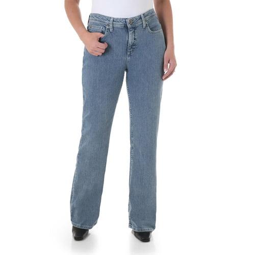 Wrangler Women's Core Natural Fit Straight Leg Jeans