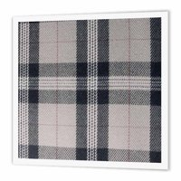 3dRose Gray tartan pattern - contemporary modern preppy plaid grey and black - fashionable checkered checks, Iron On Heat Transfer, 8 by 8-inch, For White Material
