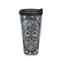 Fiesta Skull And Vine 24 oz Tumbler with lid
