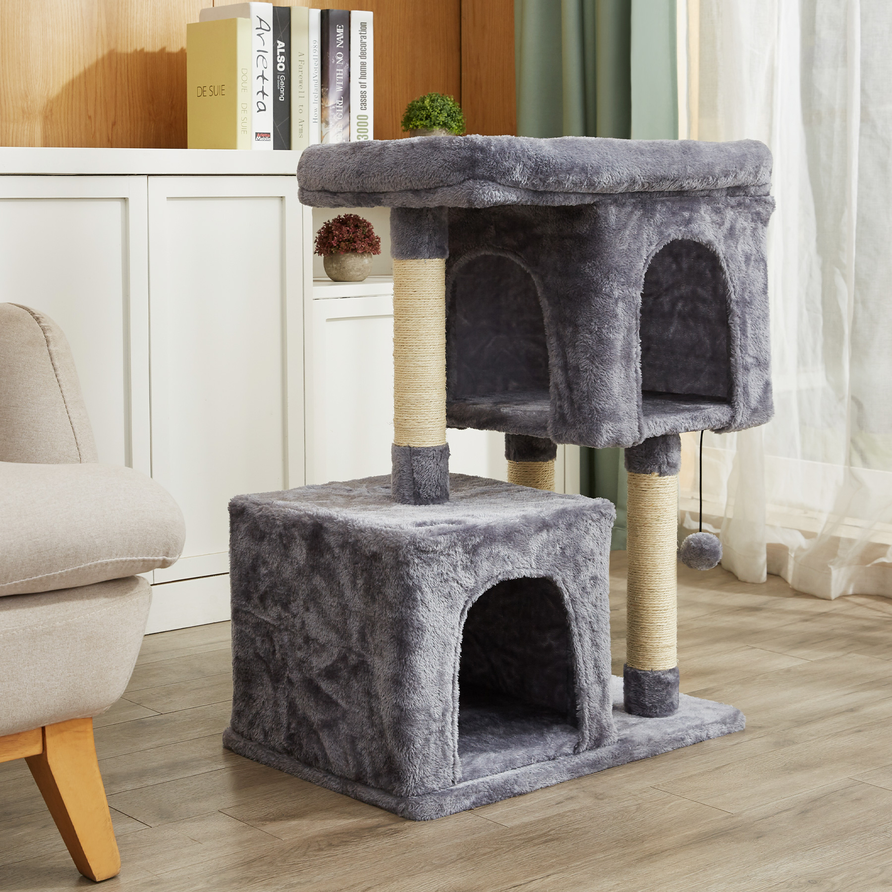 2 Big Condo House For Multiple Large Cats Indoor With Jungle Gym Cat Toy 3 Tiers Walmart Canada