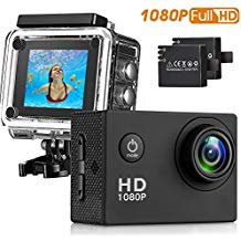 Sasrl Action Camera 12MP 1080P 2 Inch LCD Screen Waterproof Sports Cam 120 Degree Wide Angle Lens 30m Sport Ca 120 Degree Angle Head