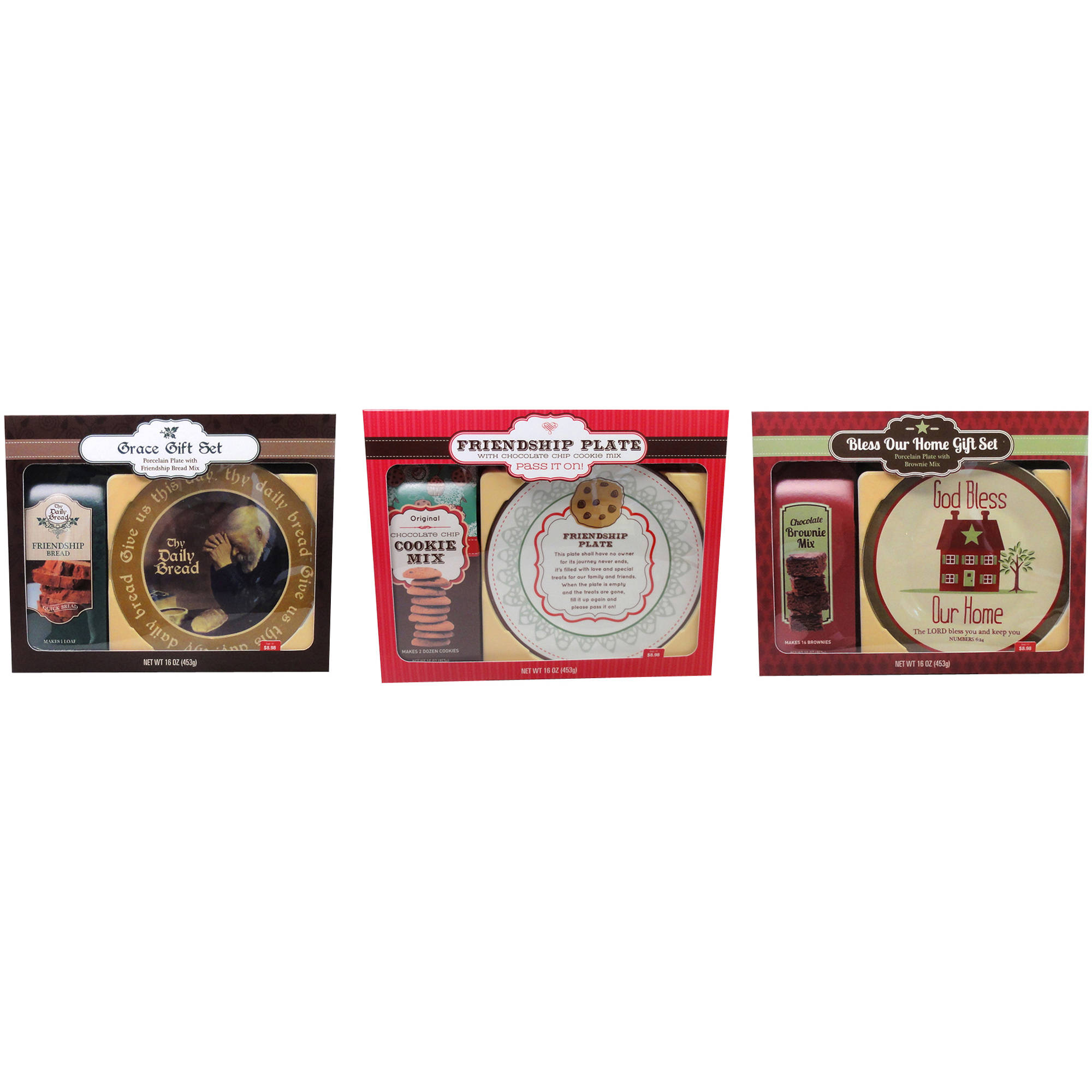 Assorted Designs and Baking Mixes Plate/Mix Gift Set, 2 pc (Design will vary)
