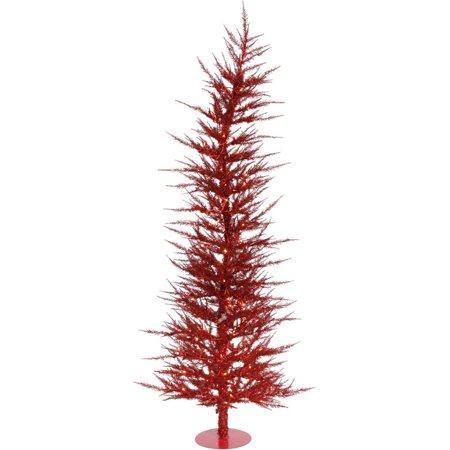 Vickerman Pre Lit 4 39 Red Laser Artificial Christmas Tree