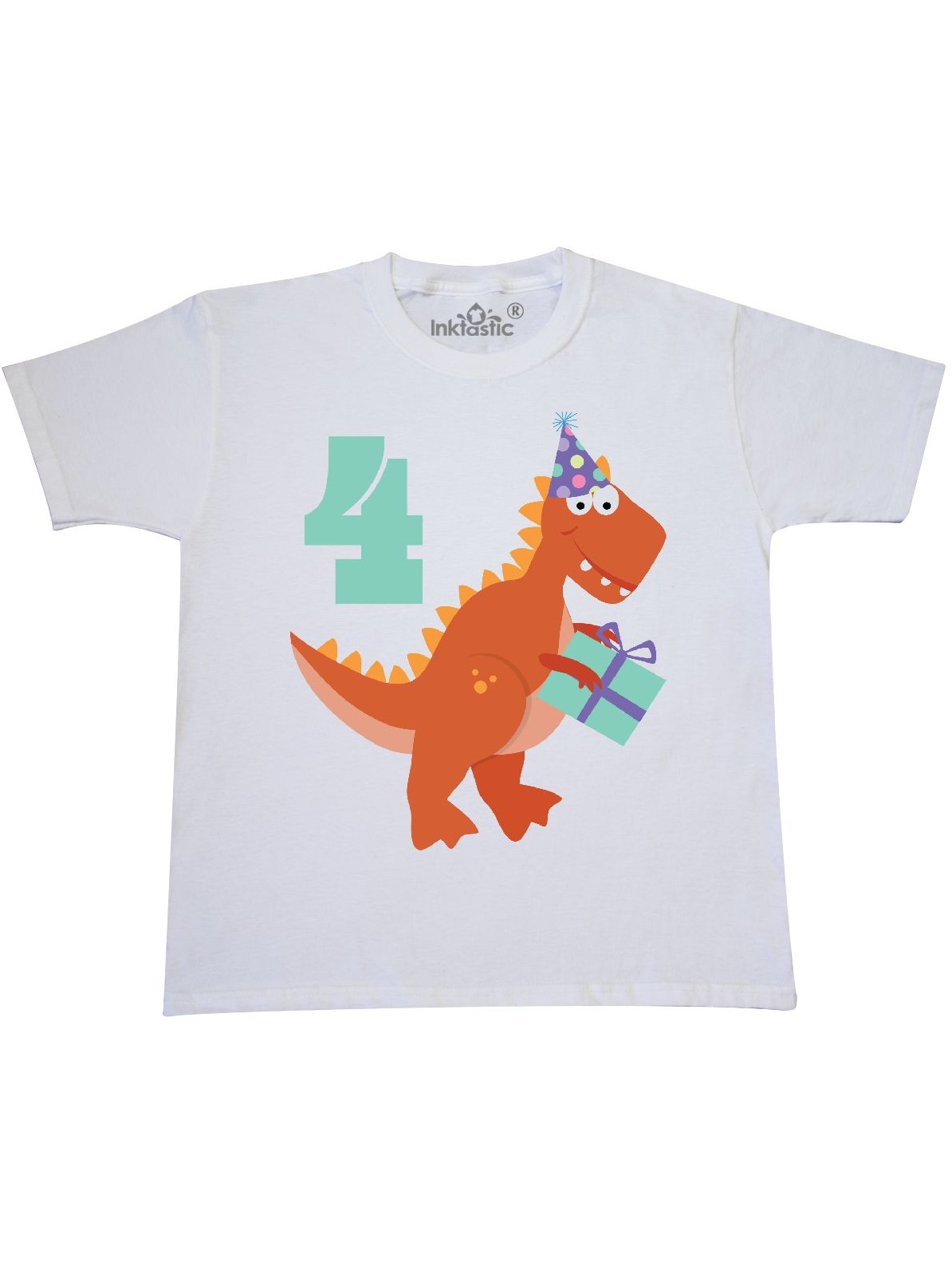 4th Birthday Dinosaur Youth T-Shirt