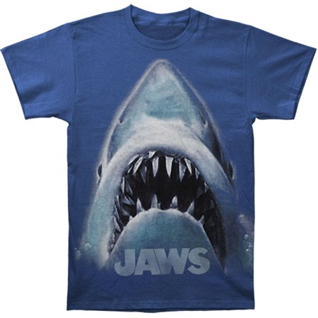 Jaws Men's  Slim Fit T-shirt Blue