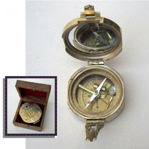 India Overseas Trading BR4840B - Brunton Stand Compass, Faux Leather Case
