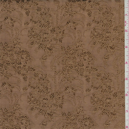 Harvest Gold Floral Faille Jacquard, Fabric By the Yard