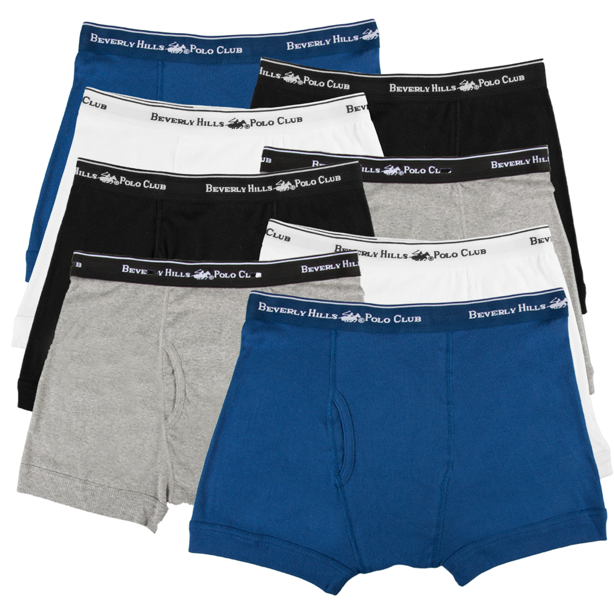 Pack of 6 Beverly Hills Polo Club Boys Underwear Briefs
