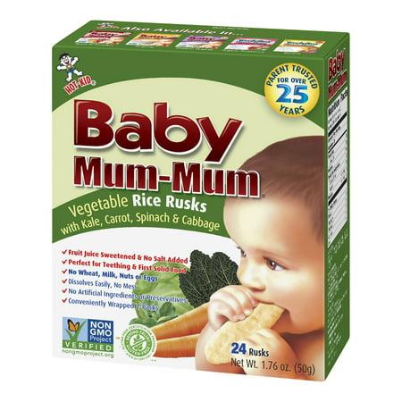 Hot Kid Baby Mum-Mum Vegetable Rice Rusks, 24 count, 1.76 oz