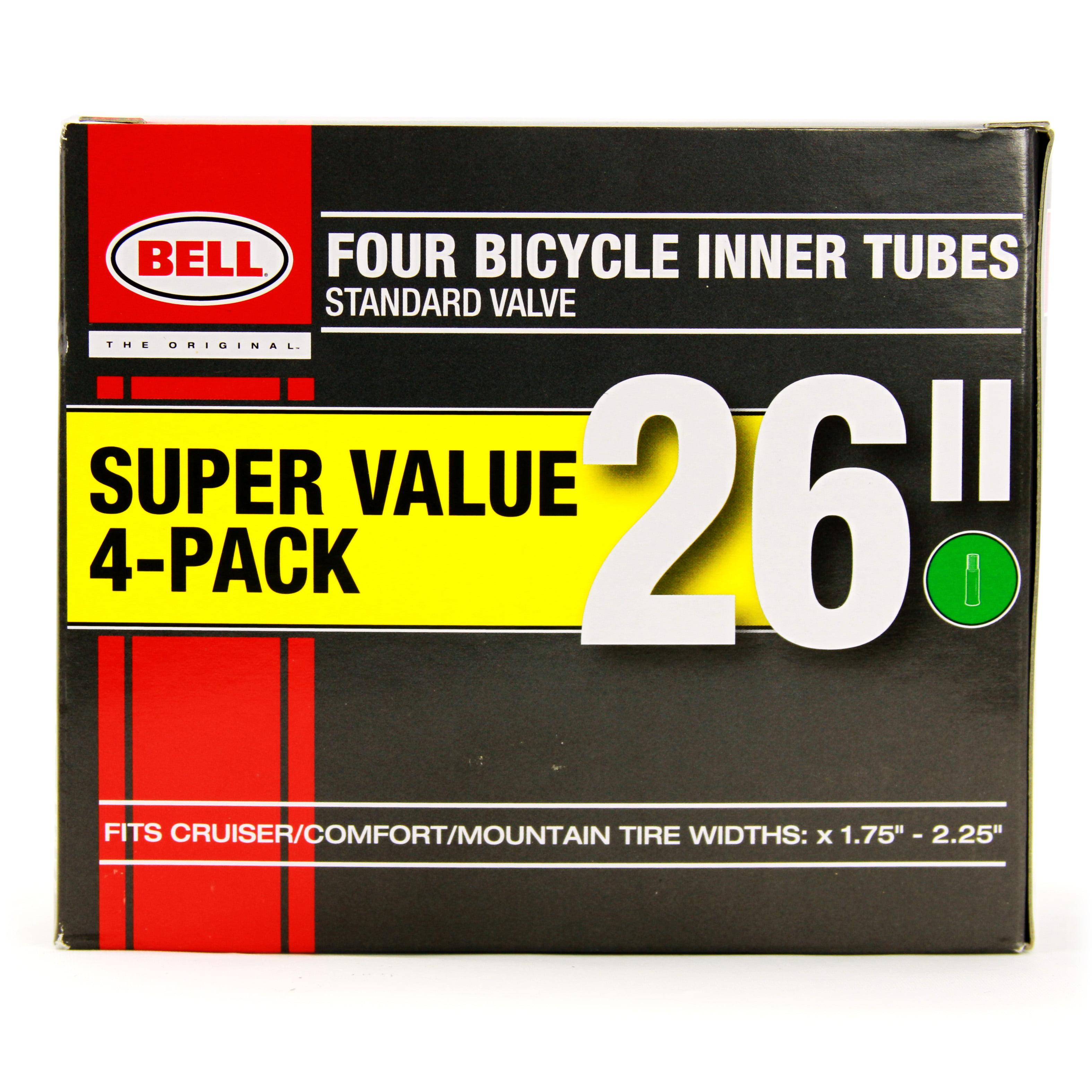 "Bell Bike Tubes 26/""x1 3//8/"" Standard Schrader Valve Bicycle Inner Tubes"