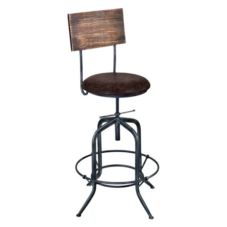 Armen Living Damian Adjule Swivel Bar Stool