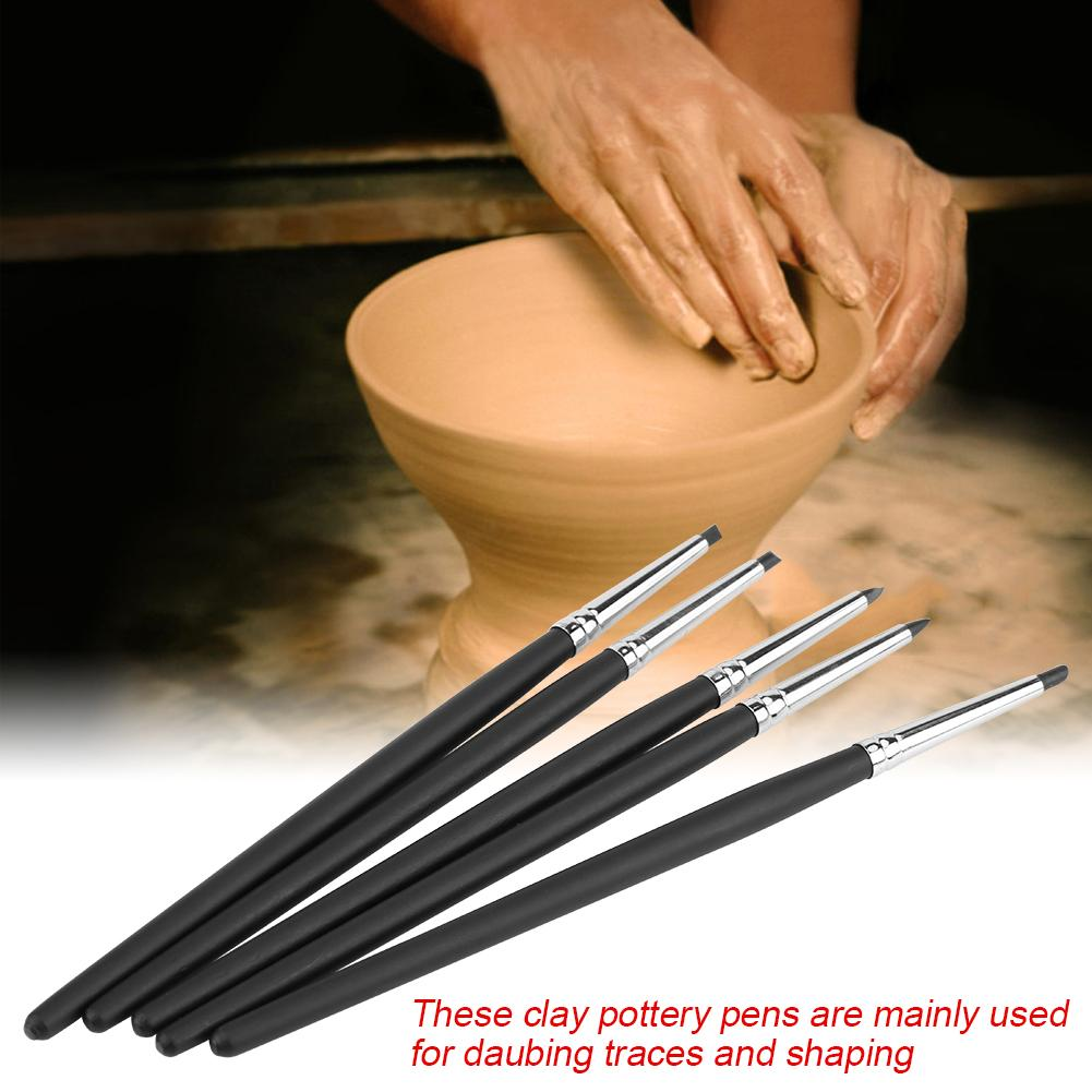 5pcs/set Silicone Soft Head Clay Pottery Moulding Pen DIY Craft Tool, Pottery Clay Tools, Clay Moulding pen