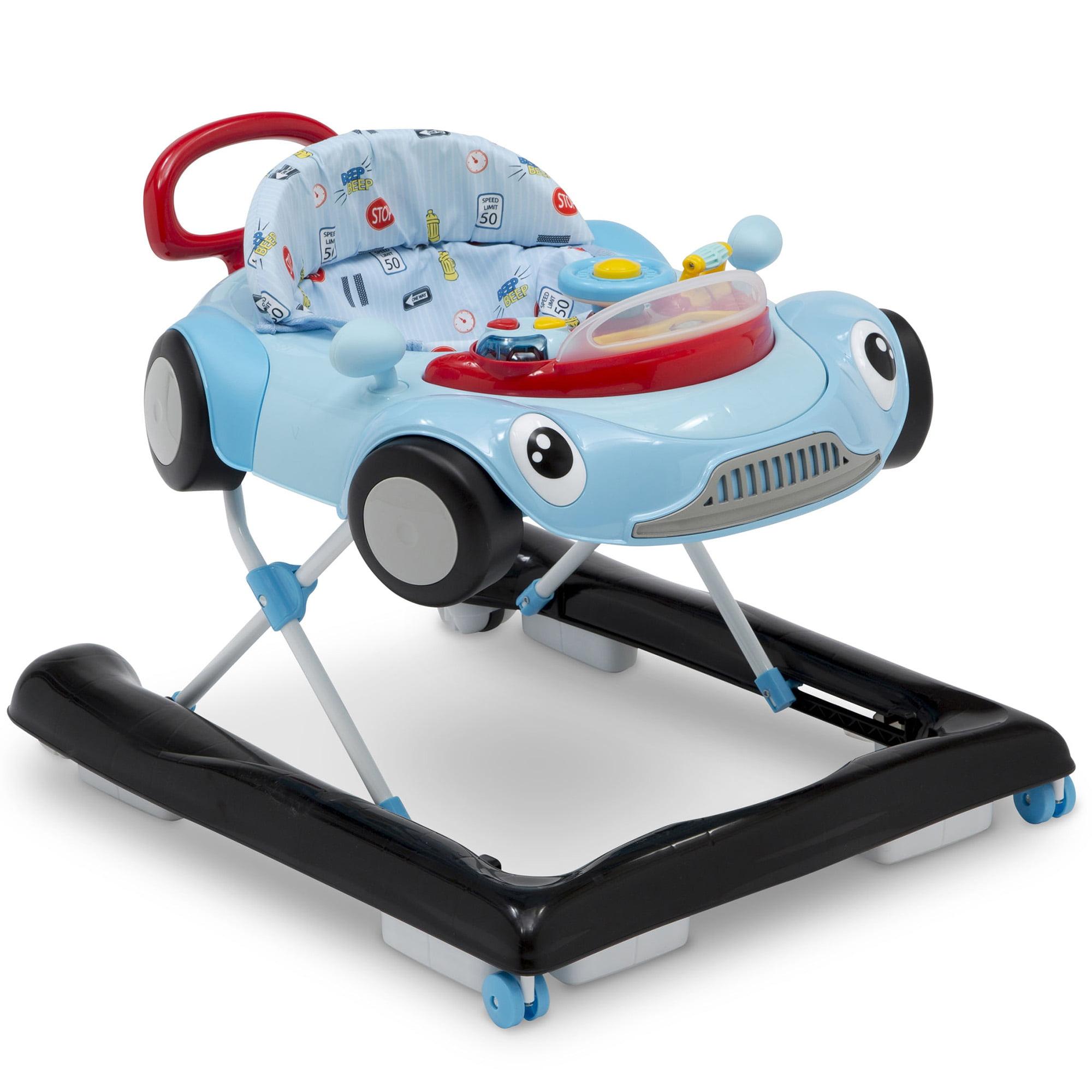 Delta Children First Race 2-in-1 Baby Walker, Blue by Delta Children