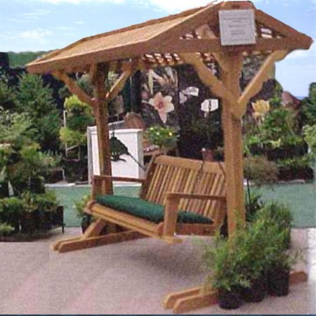 Wood Country Yardswing Stand with Roof & Optional Swing - Walmart.com