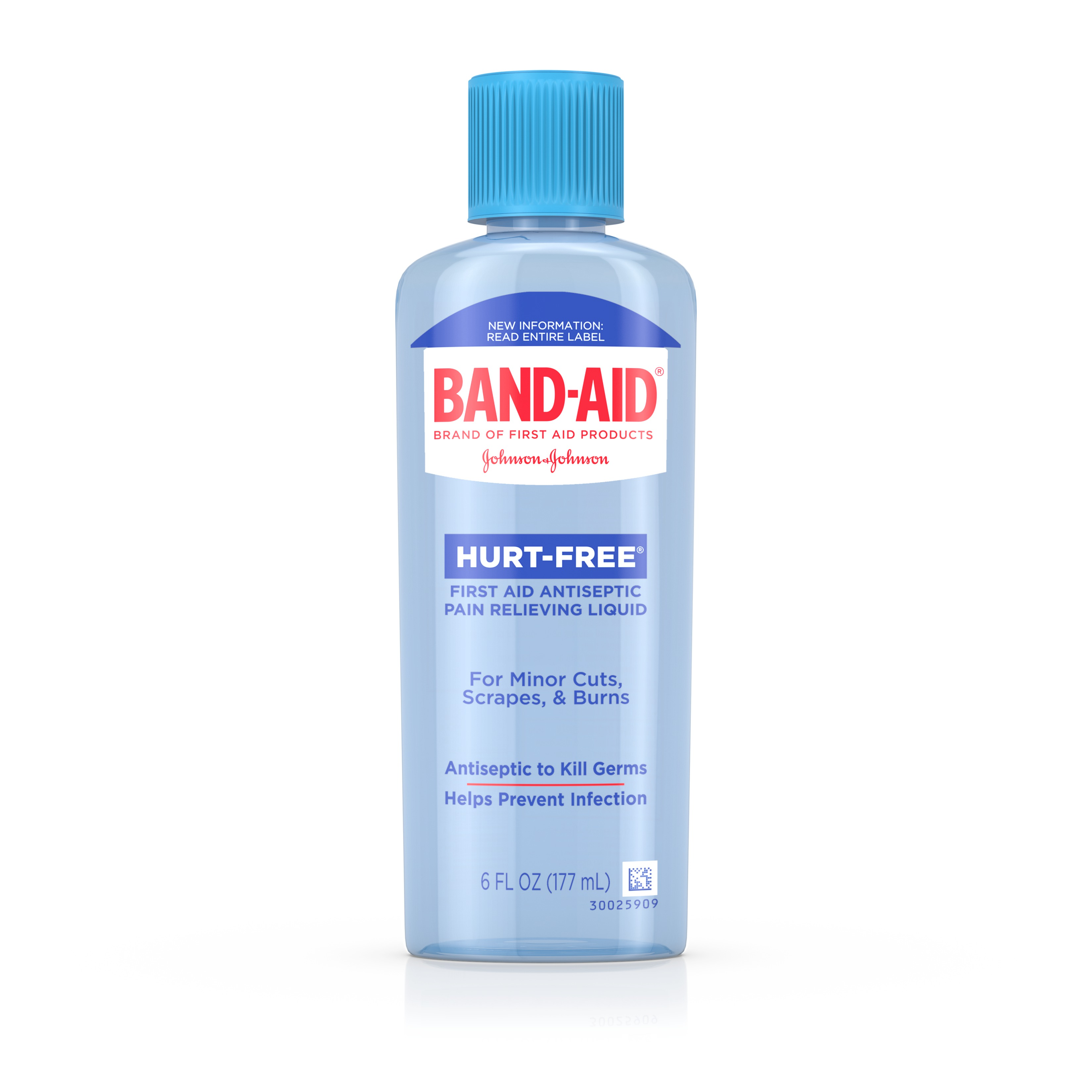 Click here to buy BAND-AID Brand First Aid HURT-FREE Antiseptic Wash Treatment, 6 Fl. Oz by Johnson & Johnson.