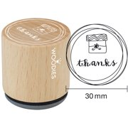 """Woodies Mounted Rubber Stamp 1.35""""-Thanks"""