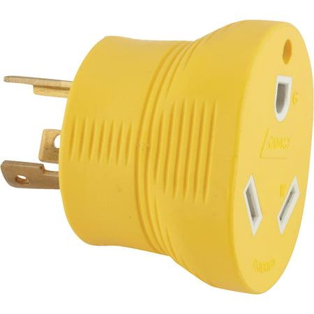 30 Amp Rv Plug >> Camco Rv 30 Amp Generator Adapter Yellow