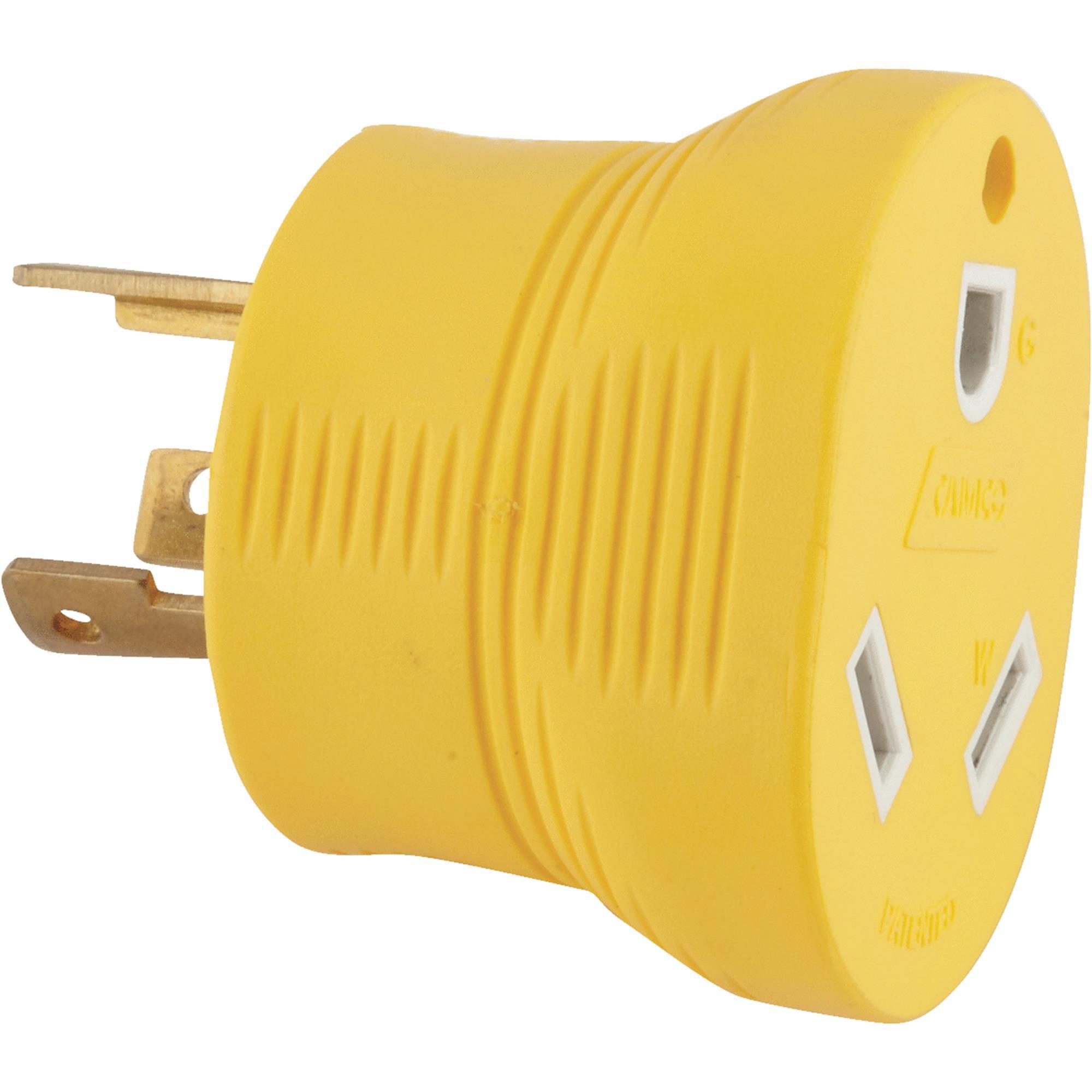 Camco RV 30-Amp Generator Adapter, Yellow