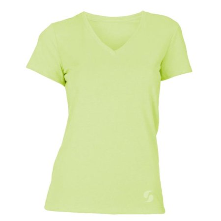soffe 6540v307xlg juniors short sleeve v-neck tee, kool kiwi - extra large