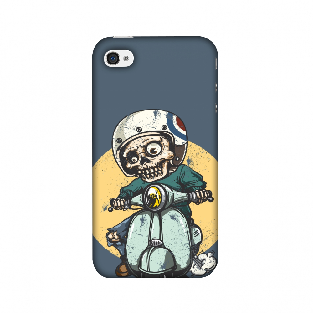 iPhone 4S Case, iPhone 4 Case - Love for Motorcycles 1,Hard Plastic Back Cover, Slim Profile Cute Printed Designer Snap on Case with Screen Cleaning Kit