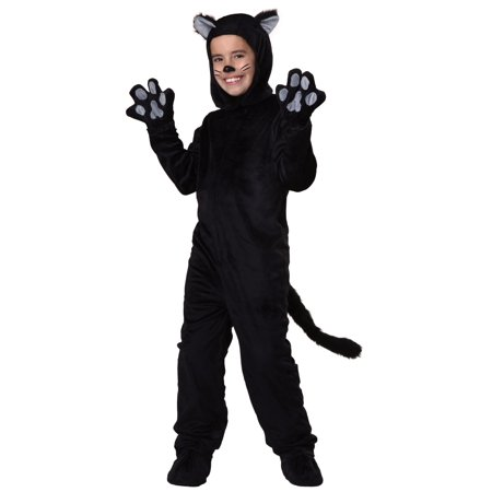 Child Black Cat Costume](Cat Whiskers Costume)