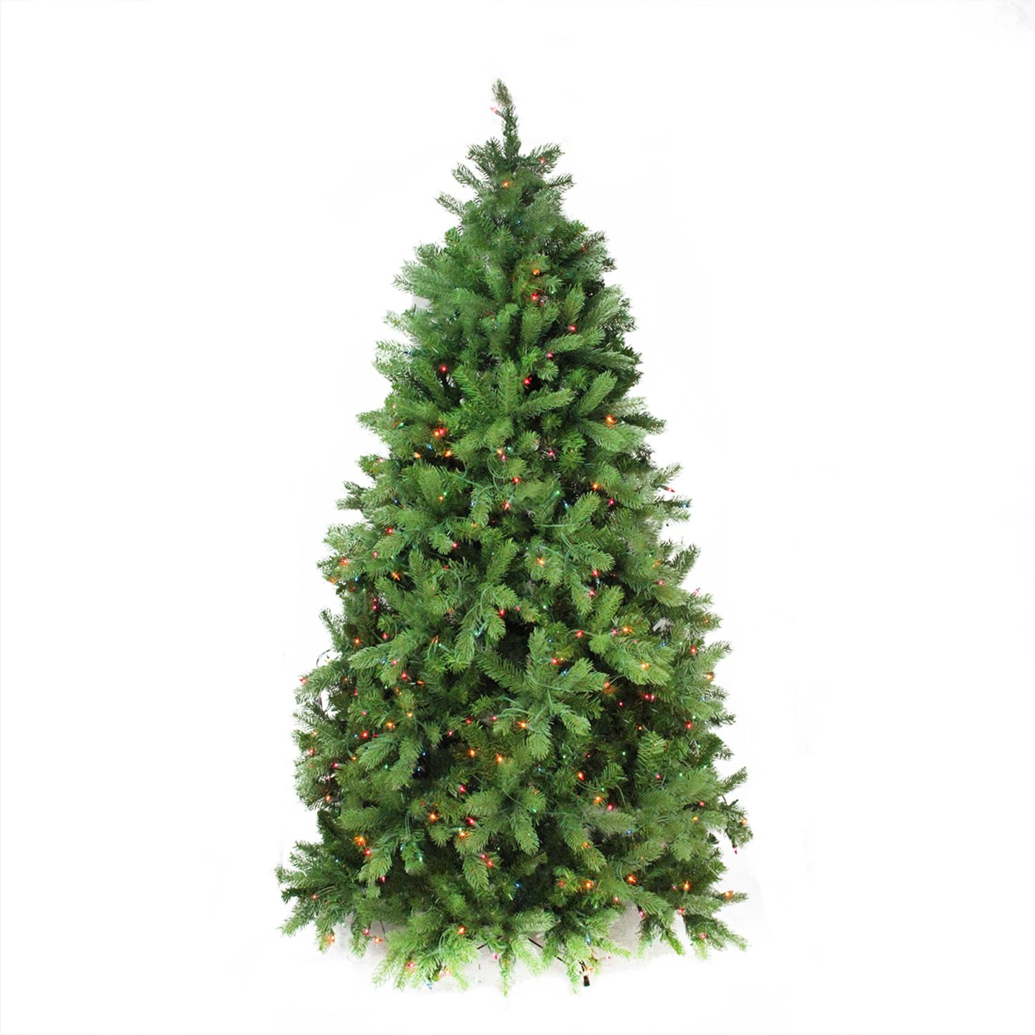 7.5\' Pre-Lit Noble Fir Full Artificial Christmas Tree - Multi-Color ...
