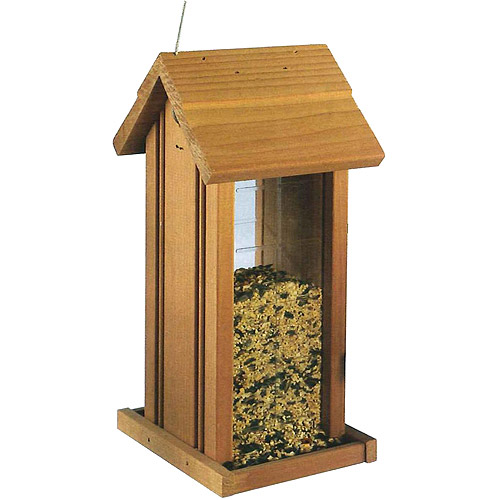North States 2-3/4 Lb Capacity Wood Hanging Tower Birdfeeder