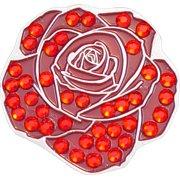 Bella Crystal Golf Ball Marker & Hat Clip - Red Rose