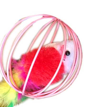 Pet Toys Hollow Ball Feather Mouse Toys Pet Playing Funny Pet Animals Mice Mouse Toys Random Color - image 5 of 8