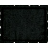 """Hawthorne Collection 1'8"""" x 2'6"""" Faux Sheepskin Area Rug in Black"""