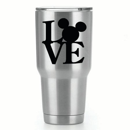 LOVE Mickey Mouse |Single Yeti Decal | 3-Inch Black Vinyl (Mickey Body Parts)