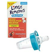 Little Remedies Fever Pain Reliever with Medicine Pacifier Dispenser, Blue