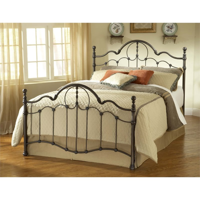 Hillsdale Venetian Queen Poster Bed in Old Bronze by Hillsdale