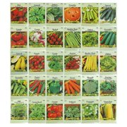 30 Packs Variety Deluxe Vegetable Seeds Create a Deluxe Garden! All Seeds are Heirloom, 100% Non-GMO! by 30 Different Varieties, Includes (30) - Different.., By Black Duck Brand