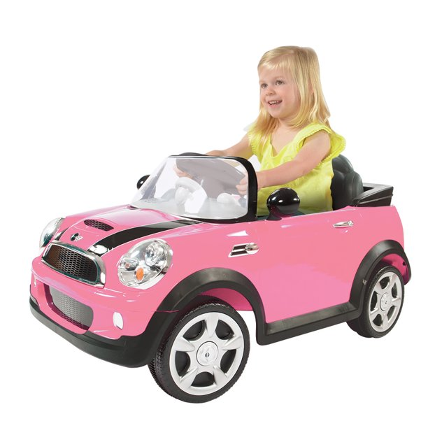 Rollplay 6 Volt Mini Cooper Ride On Toy Battery Powered Kids Ride On Car Pink Walmart Com Walmart Com