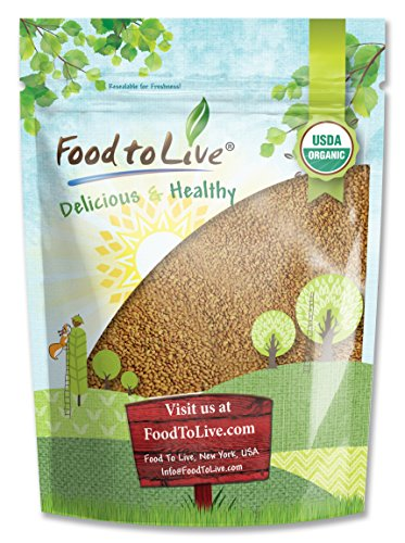 Food To Live Organic Alfalfa Sprouting Seeds (3 Pounds) by Food To Live