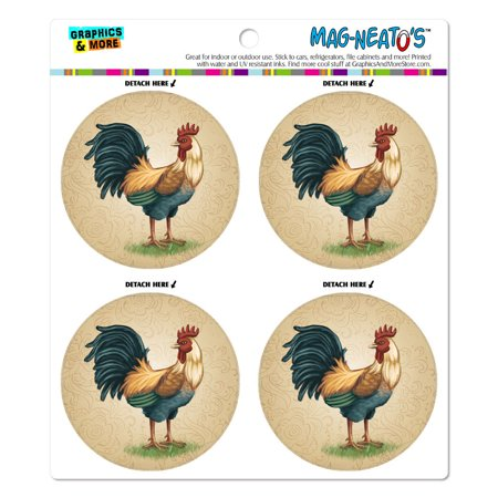 Vintage Rooster on Floral Background MAG-NEATO