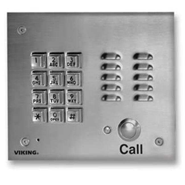 Viking Electronics VK-K-1700-3 SS Handsfree Phone W/ Key Pad