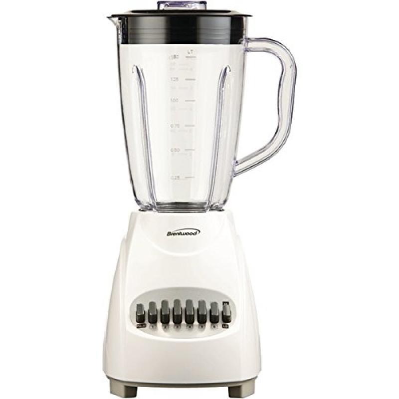 BRENTWOOD JB-220W 12-Speed Blender, Plastic Jar (White)
