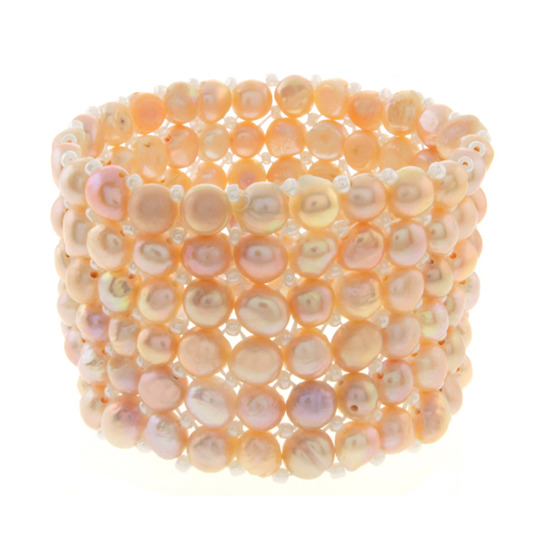 6 Strand Cultured Freshwater Pearl Elastic Bracelet