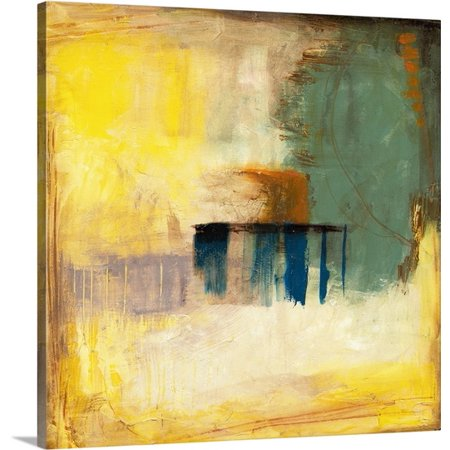 Great BIG Canvas Jennifer Goldberger Premium Thick-Wrap Canvas entitled Aquamarine Aura I ()