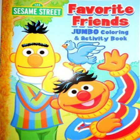 Sesame Street Elmo Jumbo Coloring Book - Favorite - Sesame Street Coloring Books