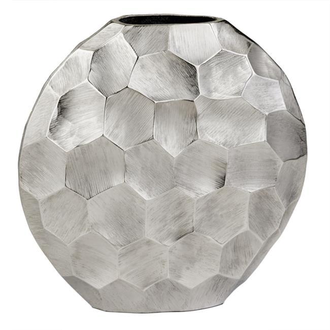 Facetado Round Silver Vase - image 1 of 1