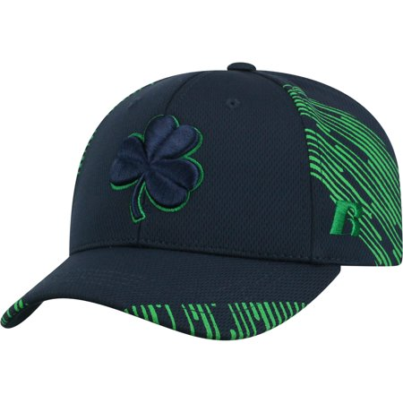 Men's Navy Notre Dame Fighting Irish Uptempo Adjustable Hat - - Notre Dame Football Hats